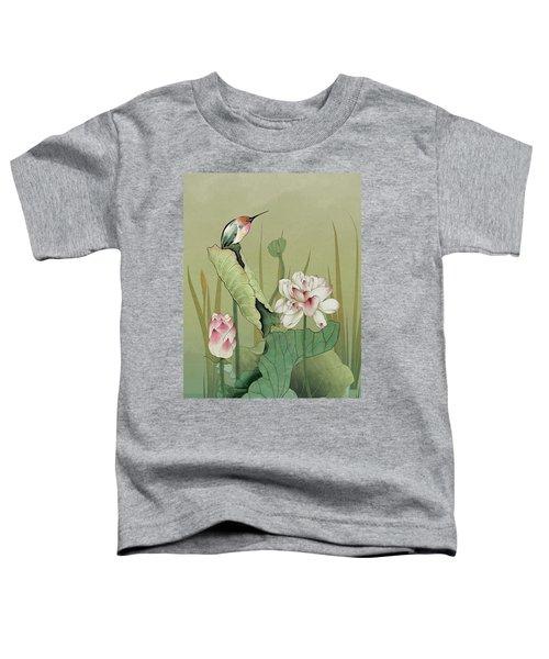 Lotus Flower And Hummingbird Toddler T-Shirt