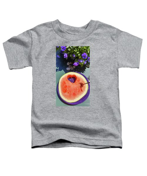 Love In Watermelon Toddler T-Shirt