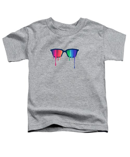 Love Wins Rainbow - Spectrum Pride Hipster Nerd Glasses Toddler T-Shirt
