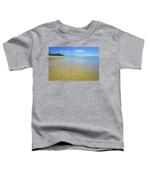 Low Tide Beach Ripples Toddler T-Shirt