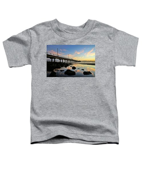 Low Tide Reflections At The Pier  Toddler T-Shirt
