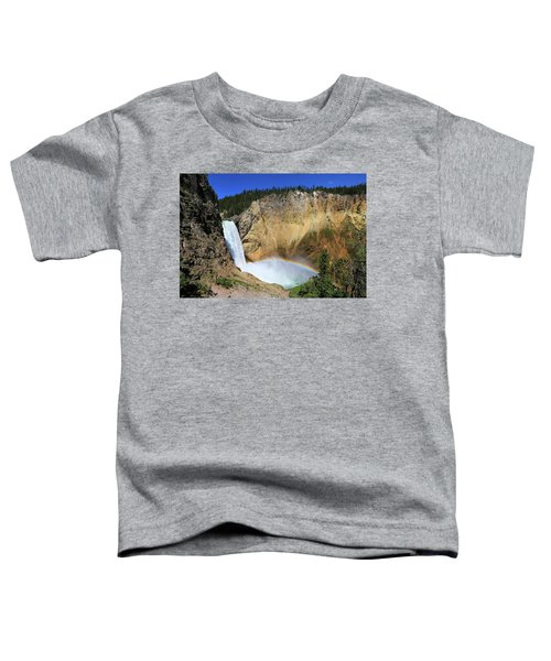 Lower Falls With A Rainbow Toddler T-Shirt