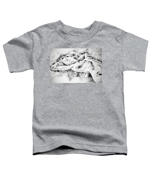 Lying Woman Figure Drawing Toddler T-Shirt