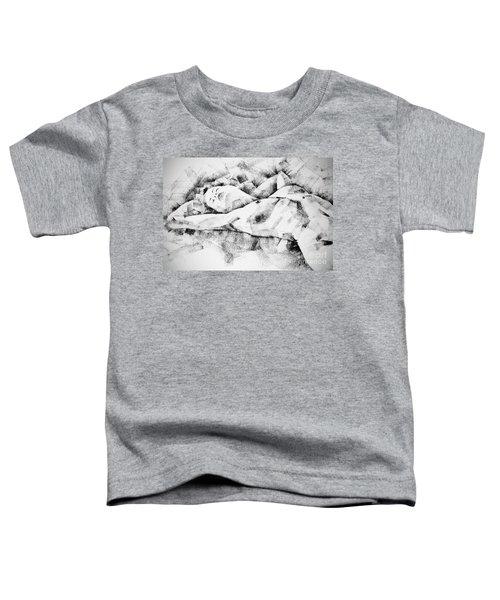 Lying Woman Figure Drawing Toddler T-Shirt