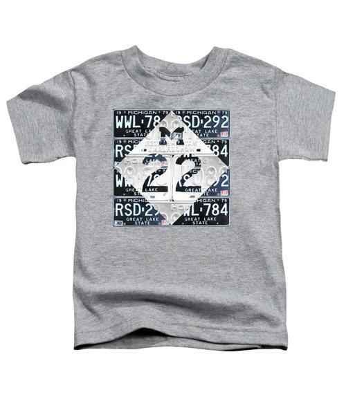 M22 Michigan Highway Symbol Recycled Vintage Great Lakes State License Plate Logo Art Toddler T-Shirt