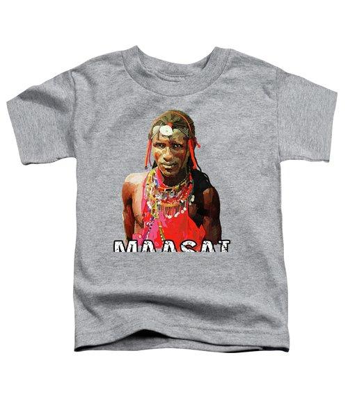 Maasai Moran Toddler T-Shirt by Anthony Mwangi