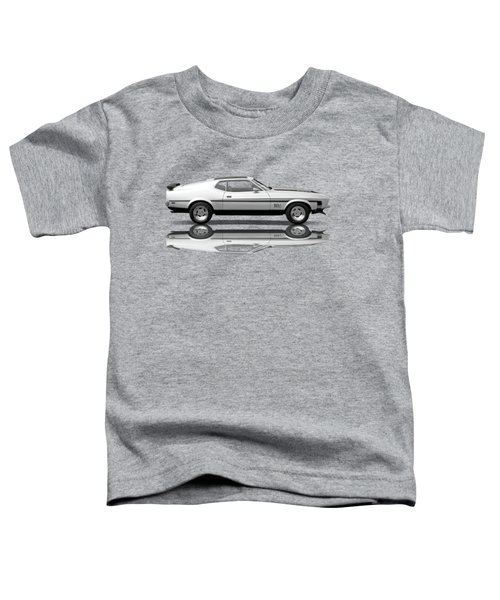 Mach 1 Mustang Reflections In Black And White Toddler T-Shirt