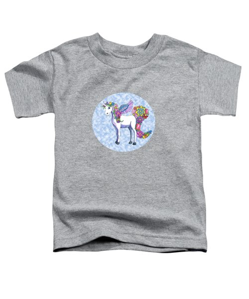 Madeline The Magic Unicorn 2 Toddler T-Shirt by Shelley Wallace Ylst