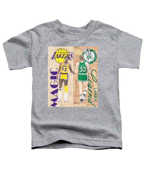 Magic Johnson And Larry Bird Toddler T-Shirt by Chris Brown