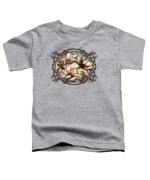 Magnolia Branch II Toddler T-Shirt by April Moen