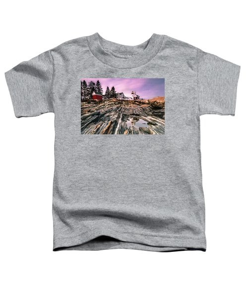 Maine Pemaquid Lighthouse Reflection In Summer Toddler T-Shirt