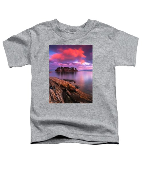 Maine Pound Of Tea Island Sunset At Freeport Toddler T-Shirt