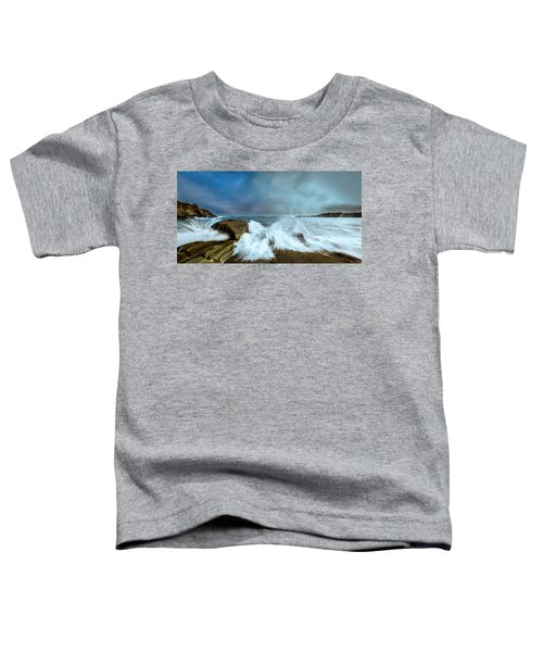 Maine Rocky Coast During Storm At Two Lights Toddler T-Shirt