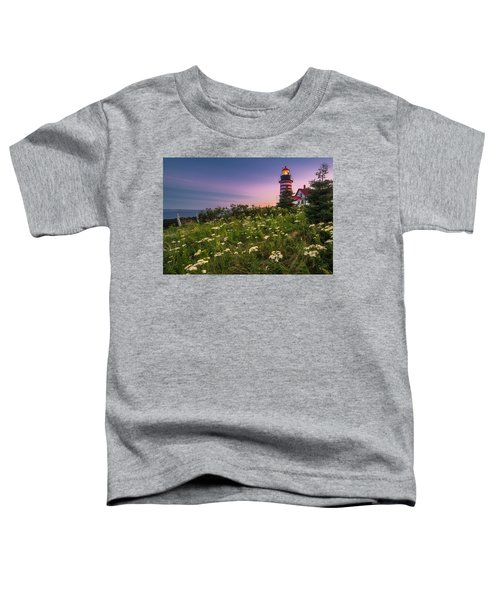 Maine West Quoddy Head Lighthouse Sunset Toddler T-Shirt