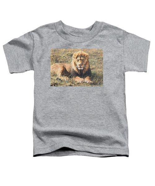 Male Lion Portrait Toddler T-Shirt