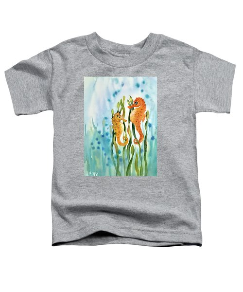 Mamma And Baby Seahorses Toddler T-Shirt