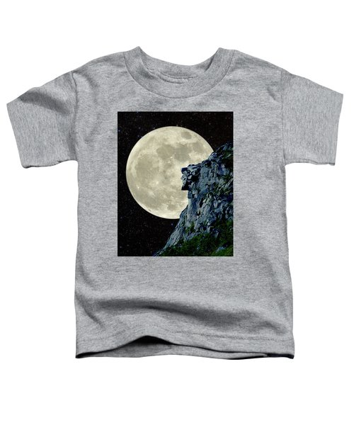 Man In The Moon Meets Old Man Of The Mountain Vertical Toddler T-Shirt