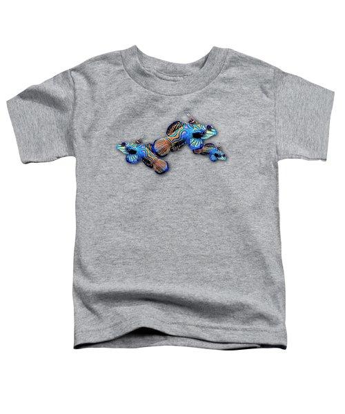 Mandarin Gobies Toddler T-Shirt by Russ Harris