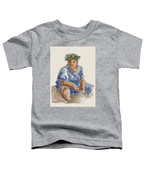 Toddler T-Shirt featuring the painting Mangaia Mama by Judith Kunzle