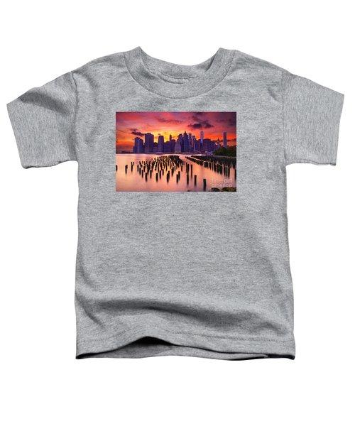 Manhattan Sunset Toddler T-Shirt