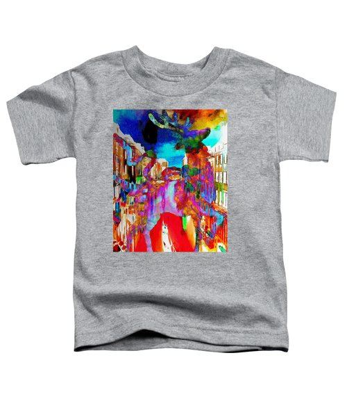 Mankey Painted Reindeer In Italy  Toddler T-Shirt