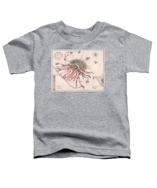 Map Of Mount Vesuvius - Pompeii, Italy - Volcano - Antique Geological Map Toddler T-Shirt