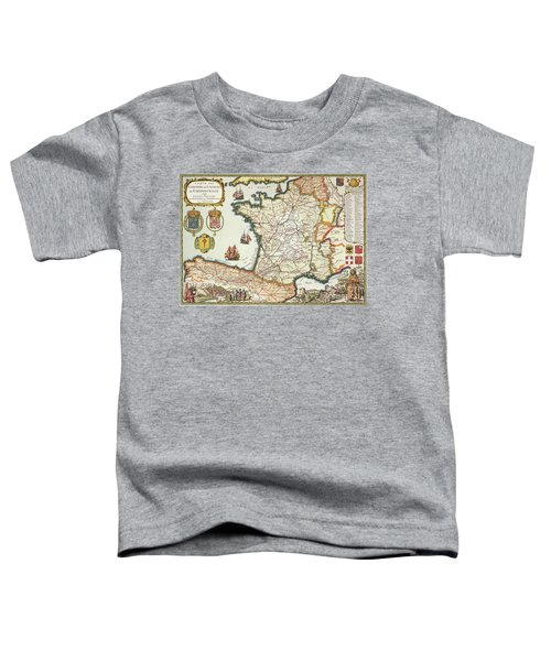 Map Of Routes Of Saint James Of Compostel Toddler T-Shirt