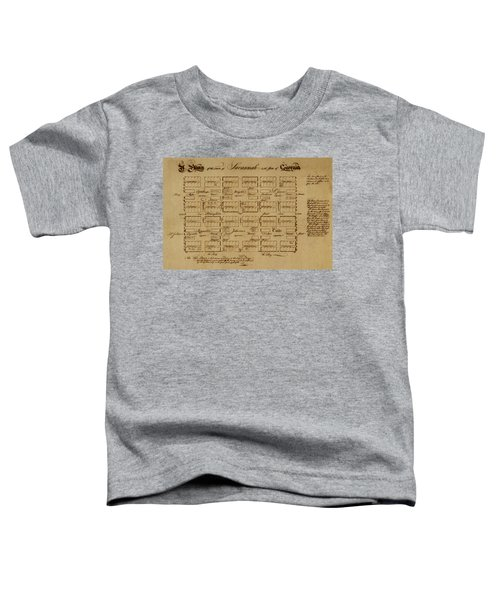 Map Of Savannah 1761 Toddler T-Shirt