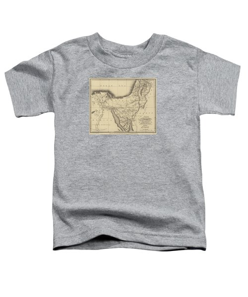 Map Of The Journeys Of The Israelites From Egypt To Canaan Toddler T-Shirt