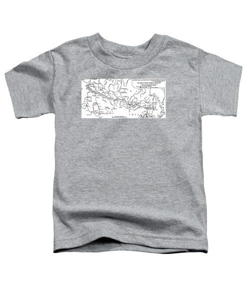 Map Of The Trans-siberian Railway Toddler T-Shirt