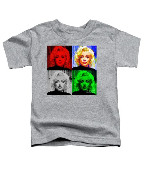 Marilyn Monroe - Quad. Pop Art Toddler T-Shirt