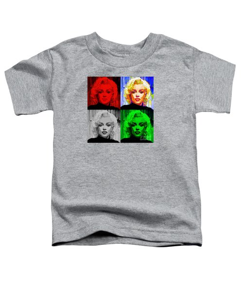 Marilyn Monroe - Quad. Pop Art Toddler T-Shirt