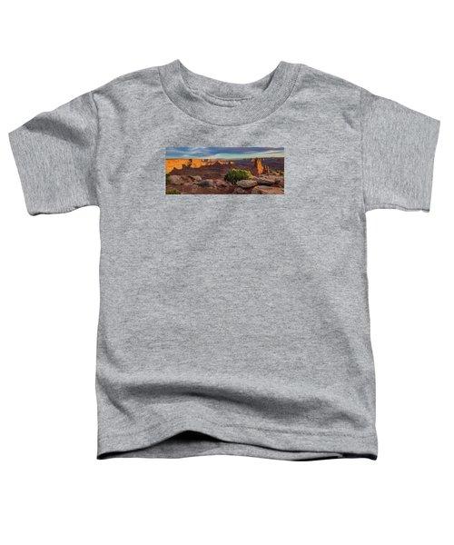 Marlboro Point Sunset Panorama Toddler T-Shirt
