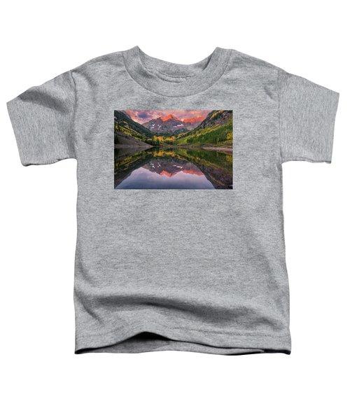 Maroon Bells At Sunrise Toddler T-Shirt