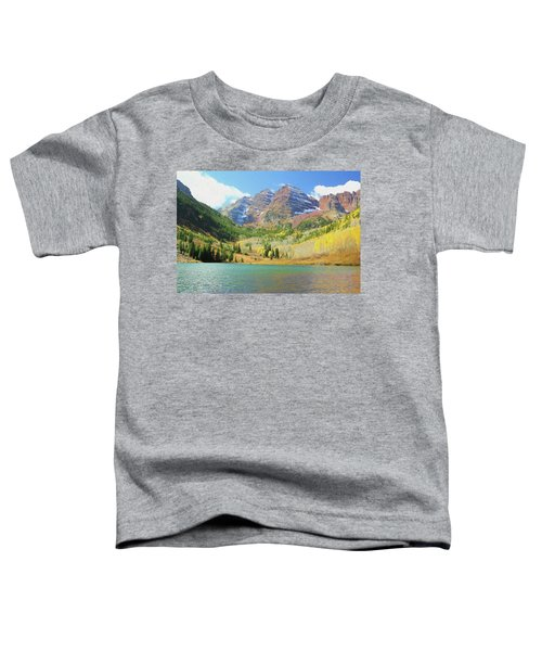 The Maroon Bells Reimagined 2 Toddler T-Shirt