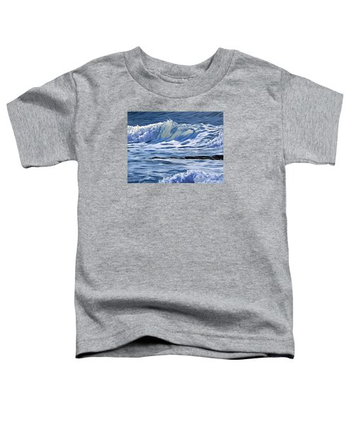 Toddler T-Shirt featuring the painting May Wave by Lawrence Dyer
