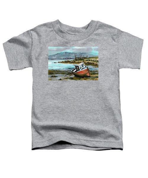Mayo..red Boat At Coraun. Toddler T-Shirt