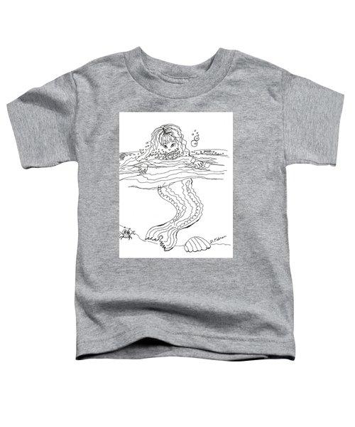 Mermaid Bubblebath Bw Toddler T-Shirt