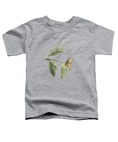 Metamorphosis Of The Caterpillar Shown On A Leaf With The Butterfly By Cornelis Markee 1763 Toddler T-Shirt