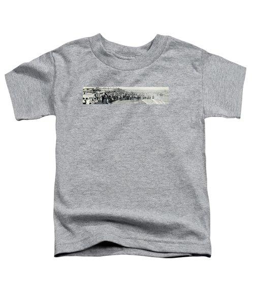 Miami Beach Sunbathers 1921 Toddler T-Shirt by Jon Neidert