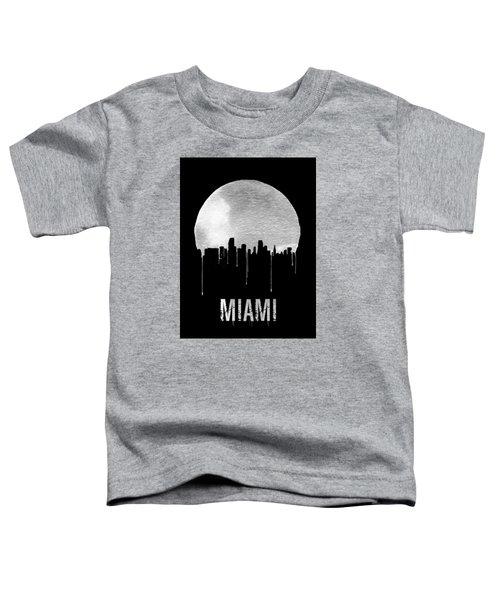 Miami Skyline Black Toddler T-Shirt by Naxart Studio