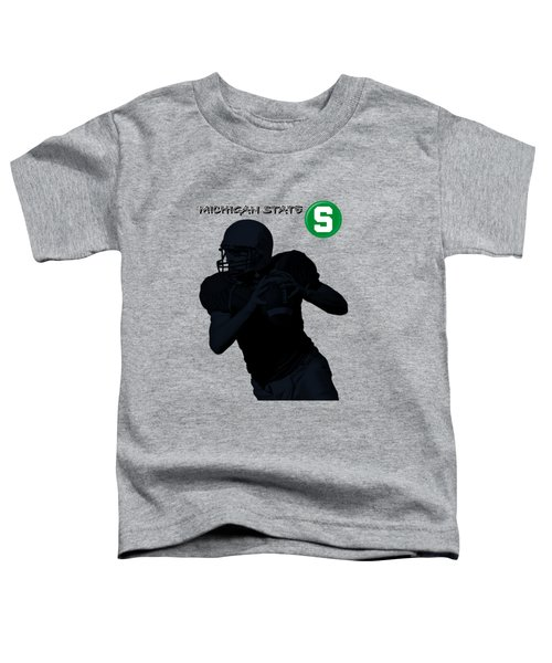 Michigan State Football Toddler T-Shirt by David Dehner
