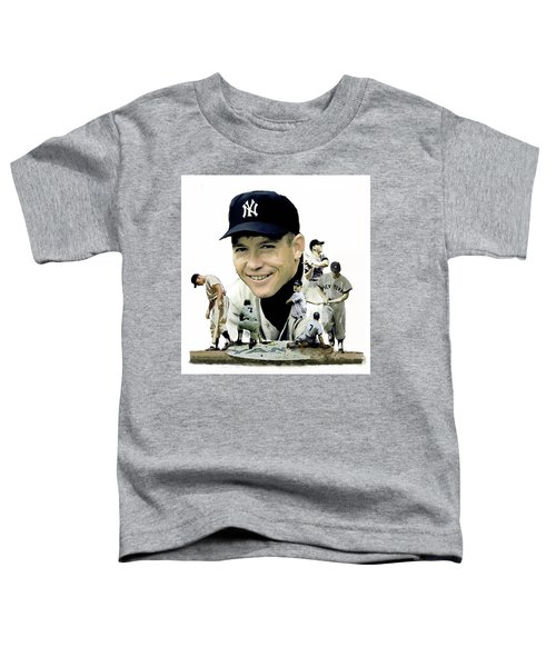 Mickey Mantle Legacy, II  Toddler T-Shirt by Iconic Images Art Gallery David Pucciarelli