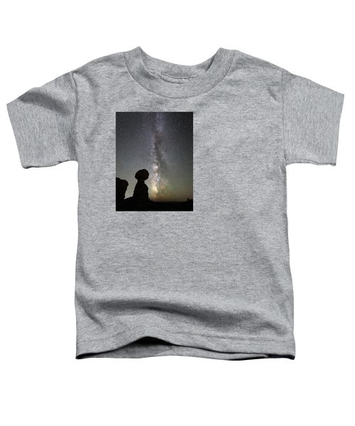 Milky Way Over Arches Np Three Toddler T-Shirt