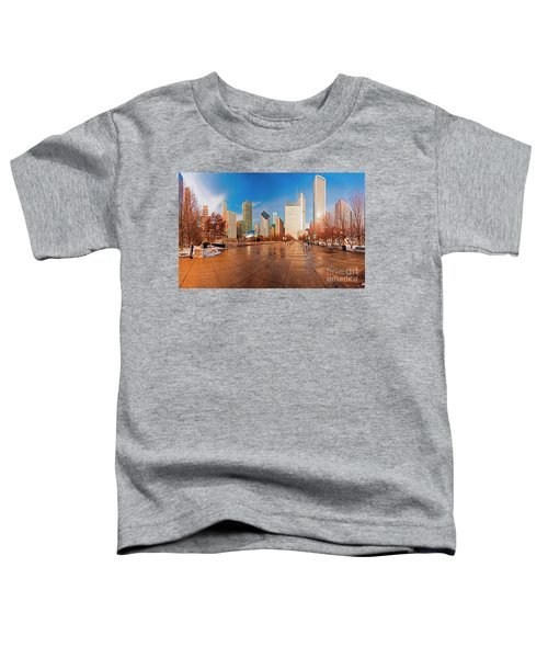 Millennium Park Skyline And The Bean  Toddler T-Shirt