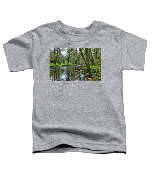 Misty Day On River Teign - P4a16017 Toddler T-Shirt
