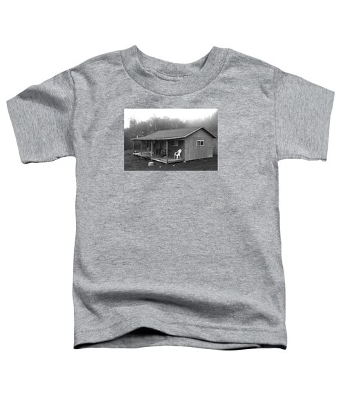 Misty Morning At The Cabin Toddler T-Shirt