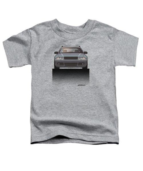Modern Euro Icons Car Series Audi Rs4 A4 Avant Quattro B5 Split Toddler T-Shirt