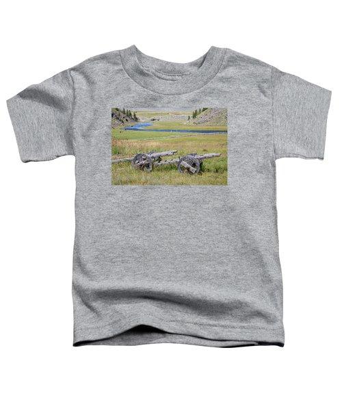 Toddler T-Shirt featuring the photograph Mongolian Ox Carts by Hitendra SINKAR