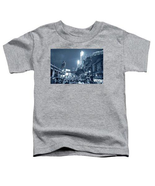 Monochrome Blue Nights Boston Ma Lansdowne St Fenway Park Game Night Toddler T-Shirt